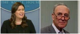 'The Last One We Would Call On To Make A Deal' — Sarah Sanders Blasts Chuck Schumer Into Orbit