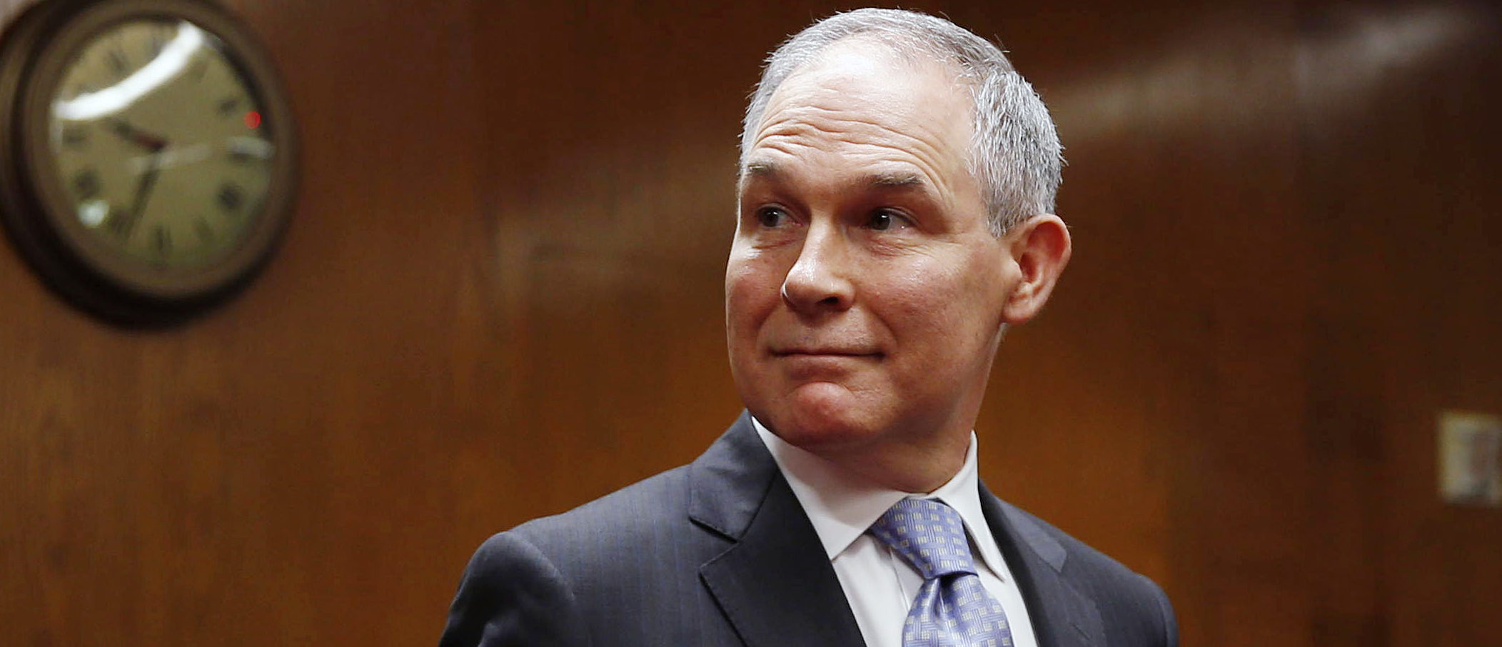 EPA Administrator Scott Pruitt arrives to testify before a Senate Appropriations Interior, Environment, and Related Agencies Subcommittee hearing on the proposed budget estimates and justification for FY2019 for the Environmental Protection Agency on Capitol Hill in Washington, U.S., May 16, 2018. REUTERS/Al Drago - HP1EE5G13U734