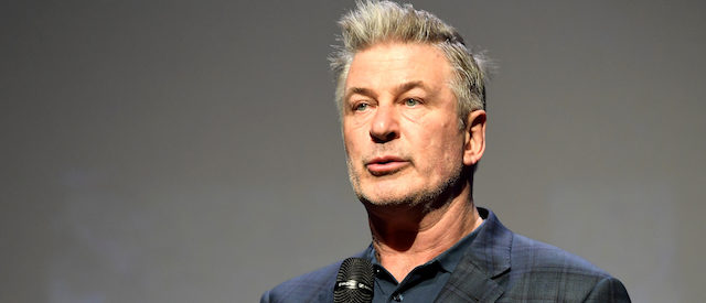 """Alec Baldwin speaks onstage at the Opening Night Film """"The Public"""" Presented by Belvedere Vodka during the 33rd Santa Barbara International Film Festival at Arlington Theatre on January 31, 2018 in Santa Barbara, California. (Photo by Matt Winkelmeyer/Getty Images for SBIFF)"""