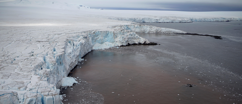 A glacier is seen at Hero Bay, Antarctica, February 19, 2018. (REUTERS/Alexandre Meneghini)