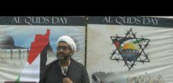 Sheikh Shafiq Hud addresses an al-Quds day rally in Toronto, Ont. on June 9, 2018. YouTube screenshot.