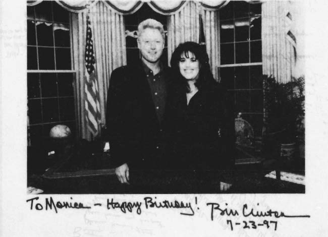 President Clinton is shown in a photo from evidence gathered by Independent Counsel Kenneth Starr in the White House sex scandal investigation. REUTERS