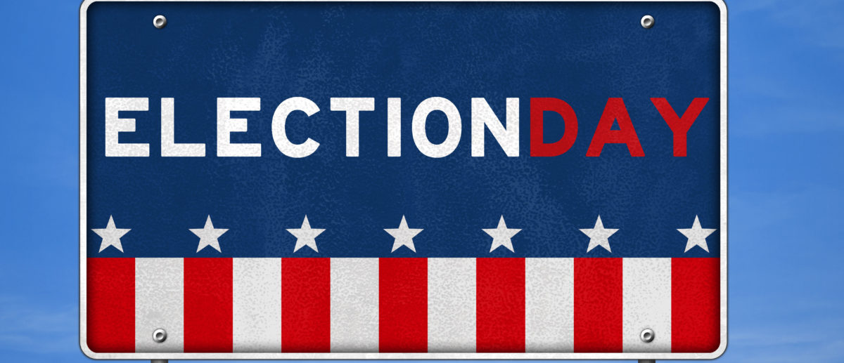 Election day placard (Shutterstock/gguy)