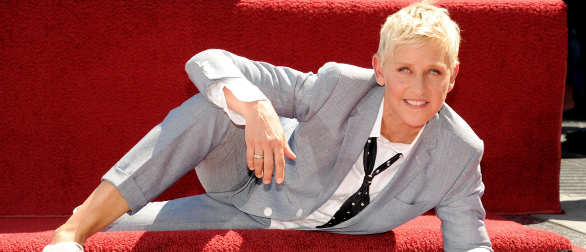 LOS ANGELES, CA - SEPTEMBER 04: Comedienne/talk show host Ellen DeGeneres is honored with a star on the Hollywood Walk of Fame on September 4, 2012 in Los Angeles, California. (Photo by Kevin Winter/Getty Images)