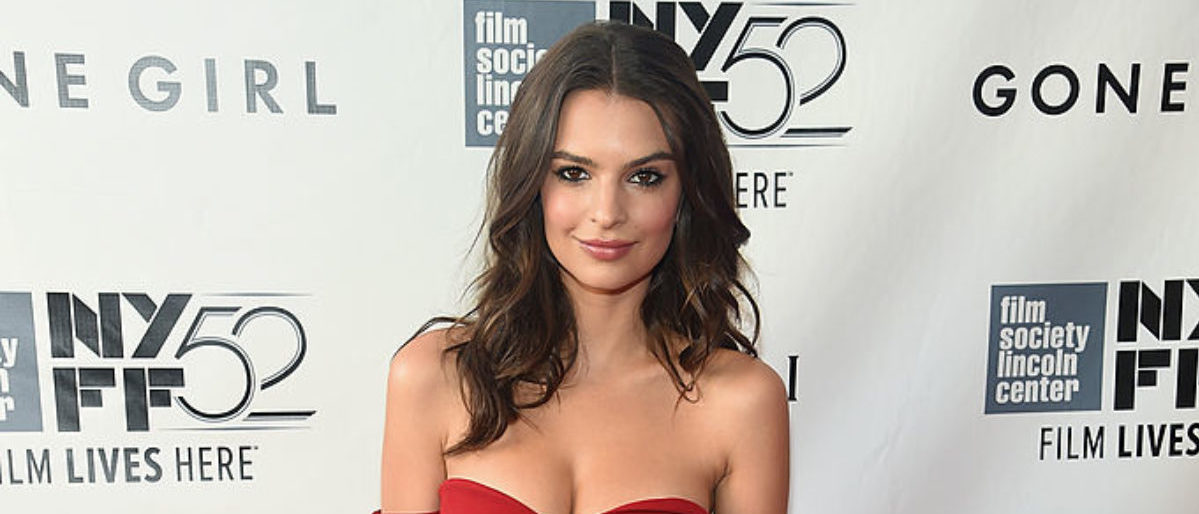"""NEW YORK, NY - SEPTEMBER 26: Model Emily Ratajkowski attends the Opening Night Gala Presentation and World Premiere of """"Gone Girl"""" during the 52nd New York Film Festival at Alice Tully Hall on September 26, 2014 in New York City. (Photo by Jamie McCarthy/Getty Images)"""