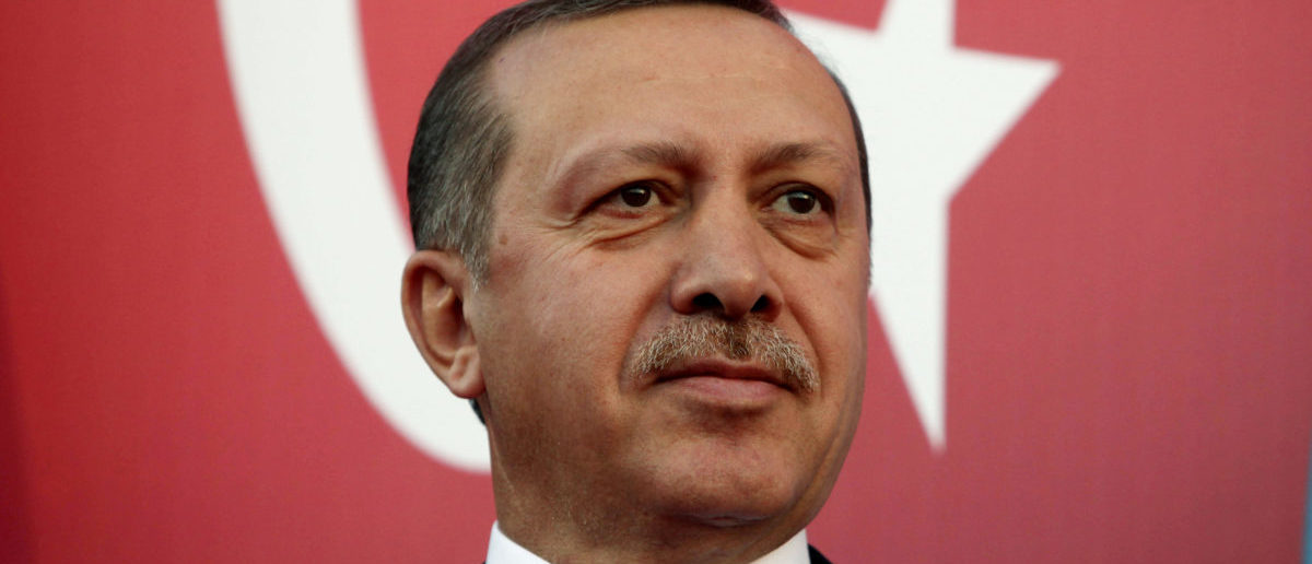 Turkey's Prime Minister Recep Tayyip Erdogan attends a rally to welcome him to Lebanon in al-Kouachra village, northern Lebanon, November 24, 2010. (LEBANON - Tags: POLITICS HEADSHOT IMAGES OF THE DAY PROFILE)