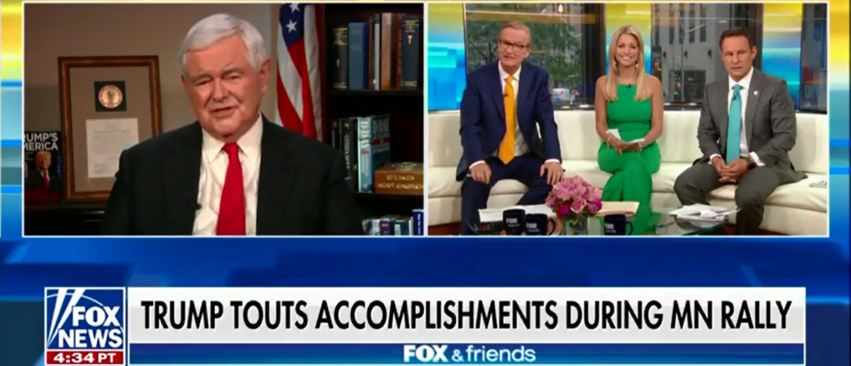 Former House Speaker Newt Gingrich Doubles Down On Republican Red Wave This November - Fox & Friends 6-21-18