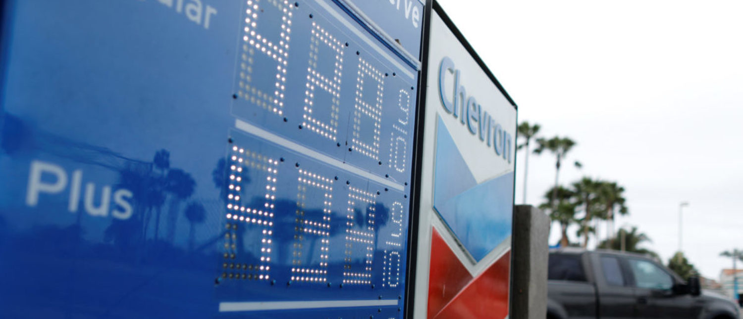 Gasoline prices are shown in Carlsbad, California, U.S., May 21, 2018. REUTERS/Mike Blake -