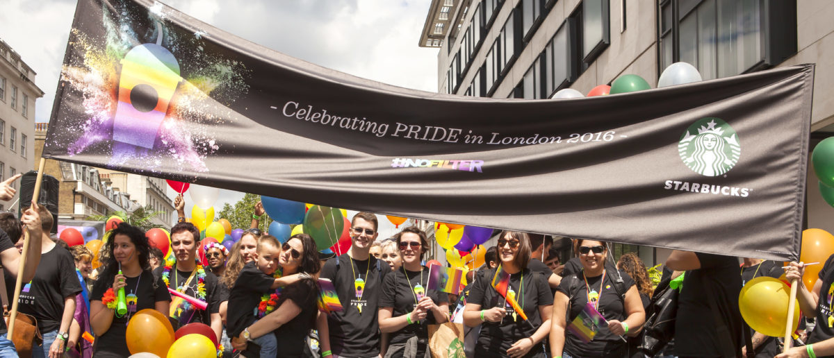 Gay Pride Starbucks (Shutterstocks/Ms Jane Campbell)