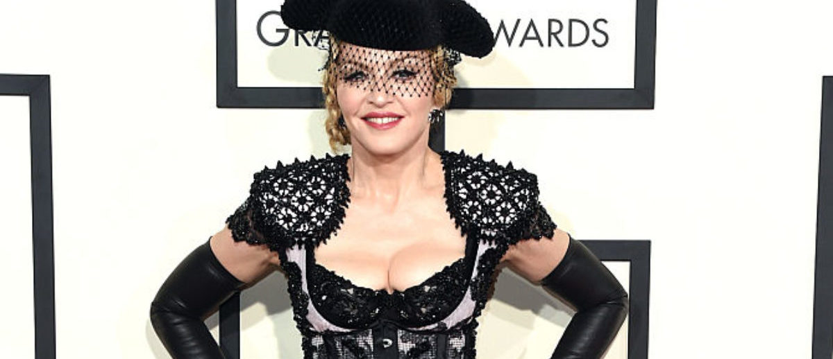 Singer Madonna attends The 57th Annual GRAMMY Awards at the STAPLES Center on February 8, 2015 in Los Angeles. (Photo by Jason Merritt/Getty Images)