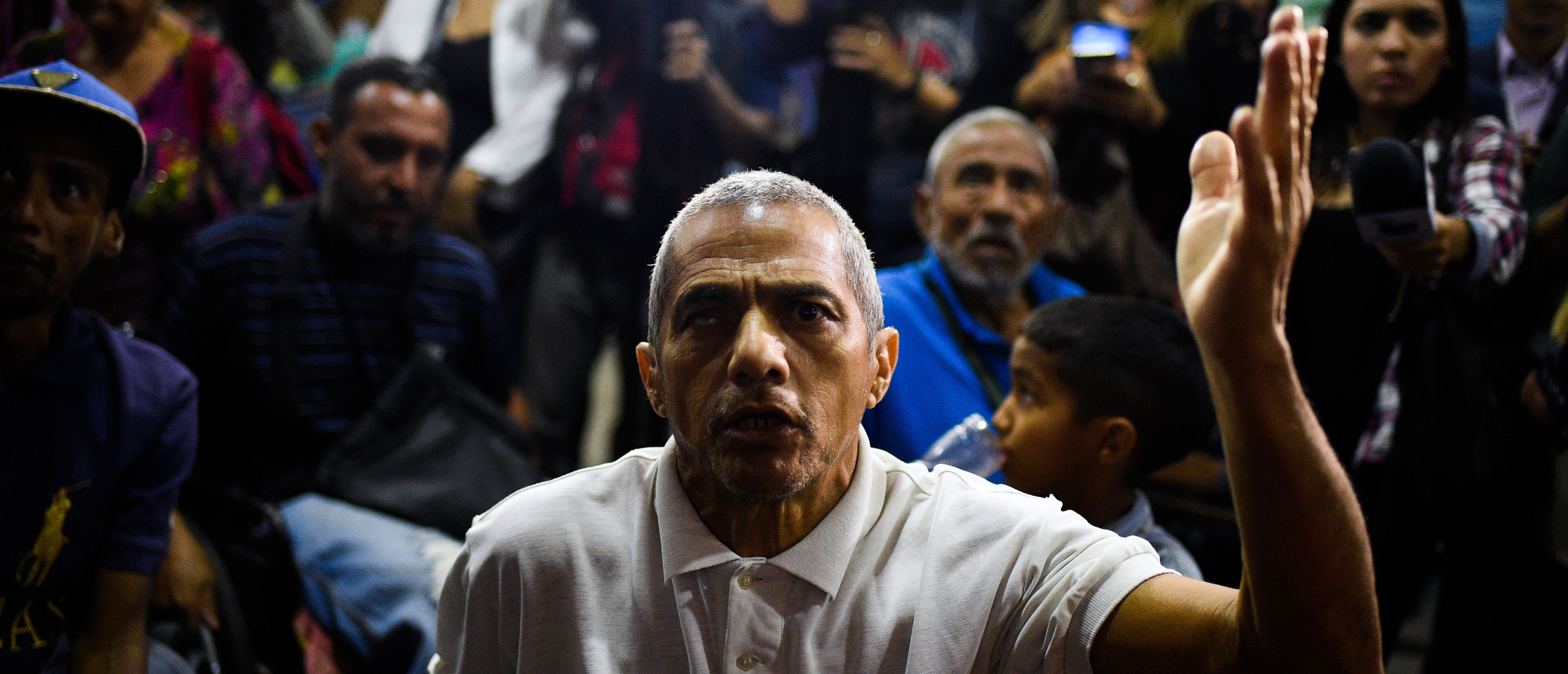 Patients and their relatives protest for the lack of medicines and medical supplies in hospitals, in front of the Health Ministry in Caracas on June 5, 2018. (Photo by Federico PARRA / AFP) (Photo credit should read FEDERICO PARRA/AFP/Getty Images)