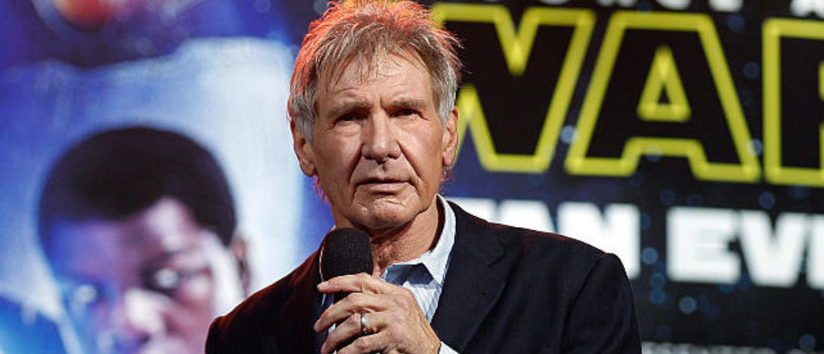 Harrison Ford attends the Star Wars: The Force Awakens fan event at Sydney Opera House on December 10, 2015 in Sydney, Australia. (Photo by Brendon Thorne/Getty Images for Walt Disney Studios)