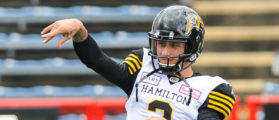CALGARY, AB - JUNE 16: Johnny Manziel #2 of the Hamilton Tiger-Cats during warm-ups prior to a CFL game against the Calgary Stampeders at McMahon Stadium on June 16, 2018 in Calgary, Alberta, Canada. (Photo by Derek Leung/Getty Images)