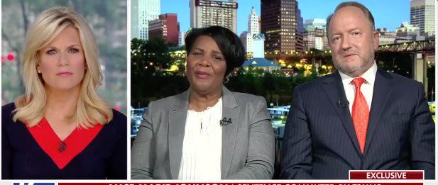 Alice Marie Johnson talks to Fox News' Martha MacCallum. Fox News screenshot