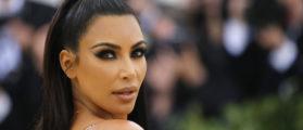Kim Kardashian arrives at the Metropolitan Museum of Art Costume Institute Gala (Met Gala) to celebrate the opening of ìHeavenly Bodies: Fashion and the Catholic Imaginationî in the Manhattan borough of New York, U.S., May 7, 2018. REUTERS/Eduardo Munoz - HP1EE58052OI7