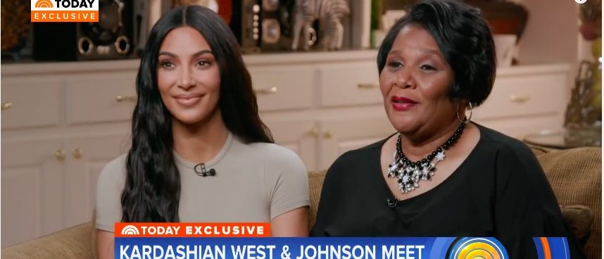 Kim Kardashian Alice Marie Johnson (Photo: YouTube Screenshot)