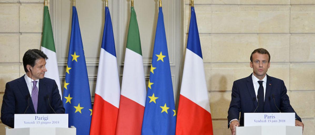 Macron Conte France Italy Migrants e