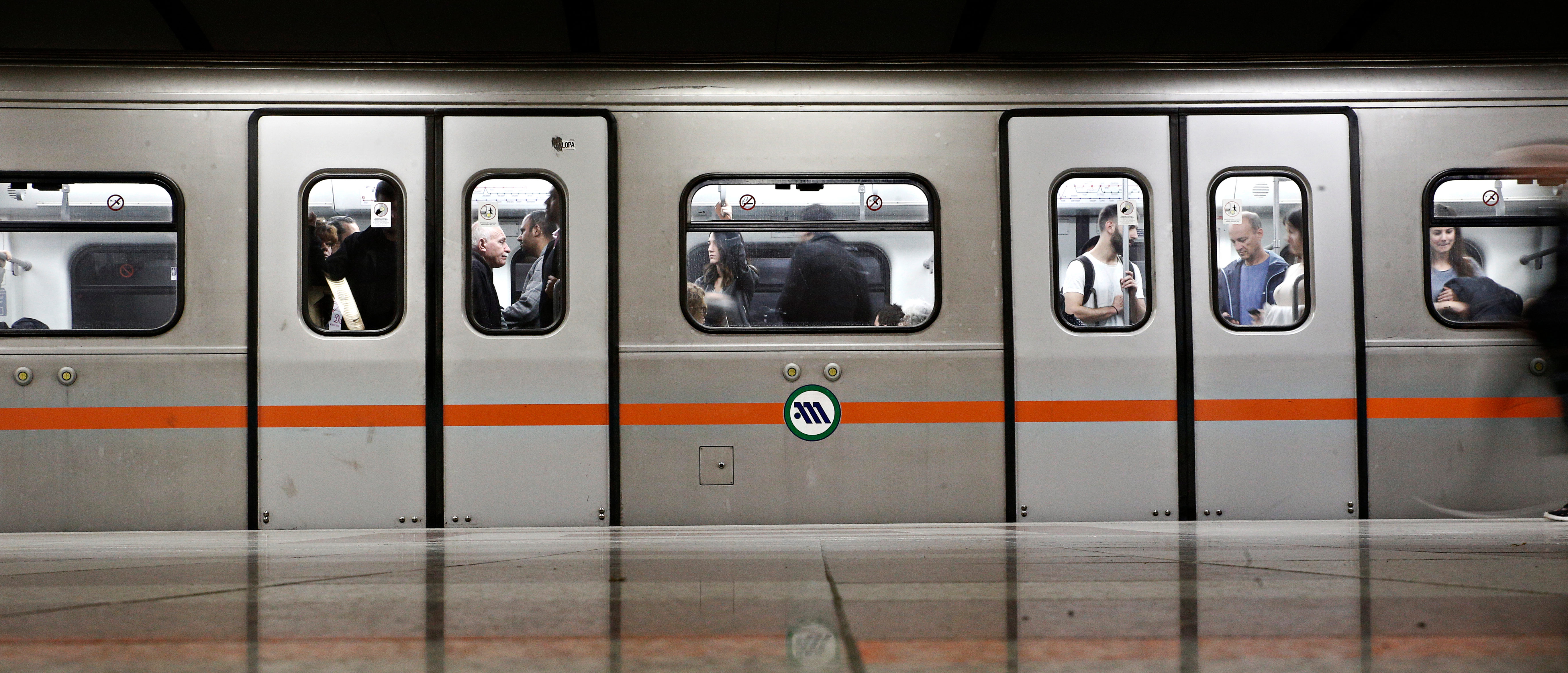 Subway car in Syntagma Metro station in Athens, Greece on Nov. 16, 2017 (Alexandros Michailidis/Shutterstock)