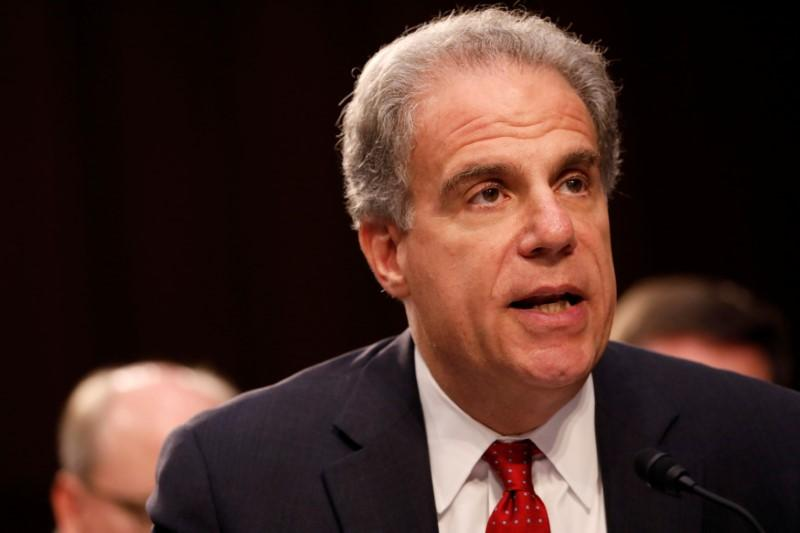 Justice Department Inspector General Michael Horowitz testifies during a Judiciary Committee hearing into alleged Russian meddling in the 2016 election on Capitol Hill in Washington, U.S., July 26, 2017. REUTERS/Aaron P. Bernstein
