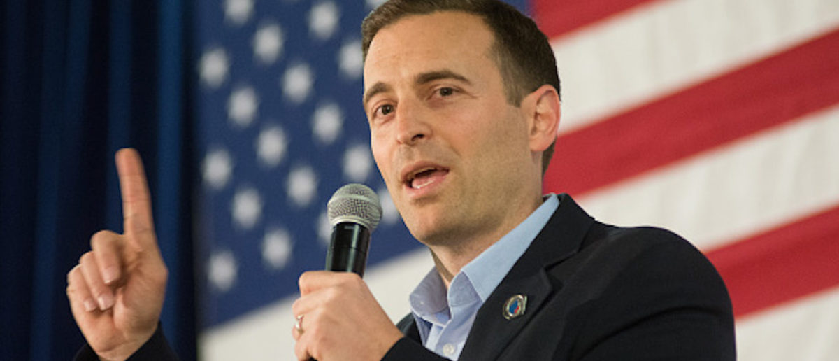 Nevada attorney general Adam Laxalt speaks at a rally for Republican presidential candidate Sen