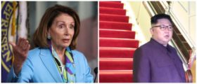 Kim's approval rating among Republicans is higher than that of Pelosi (Left: Photo by Mark Wilson/Getty Images, Right: Photo by Ministry of Communications and Information Singapore via Getty Images)