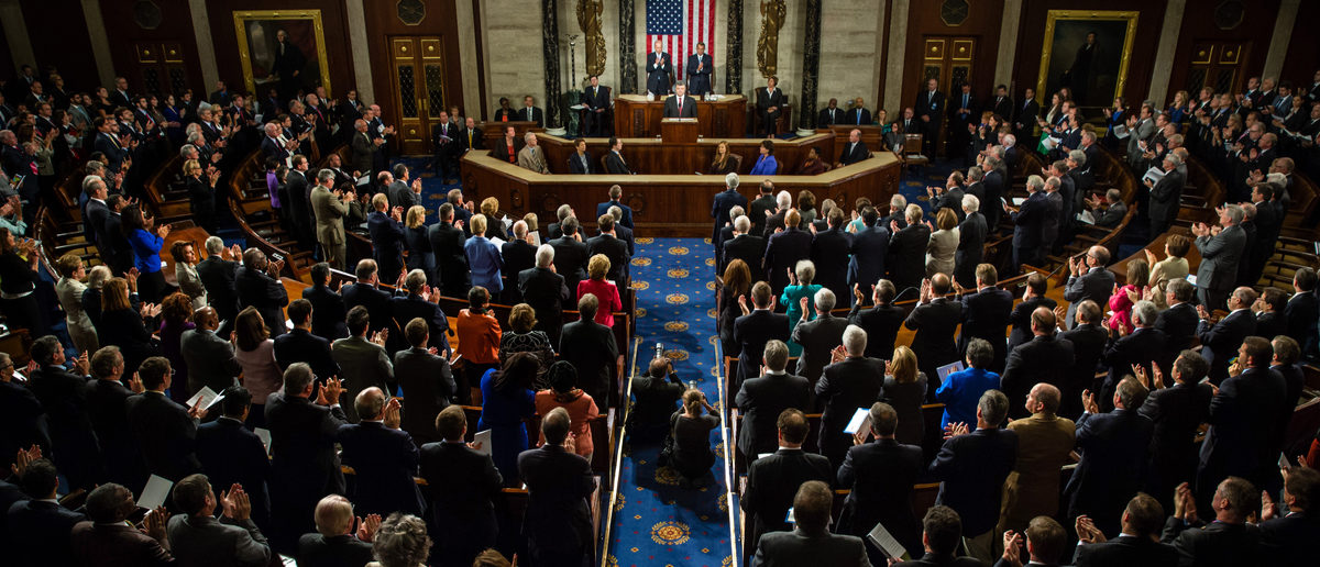 Speech by President of Ukraine Petro Poroshenko at the joint session of the Senate and House of Representatives in Washington, DC. (Shutterstock/Drop of Light)