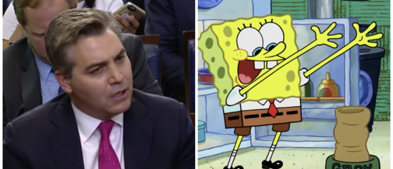 PicMonkey Collage of Spongebob and Acosta (Youtube)