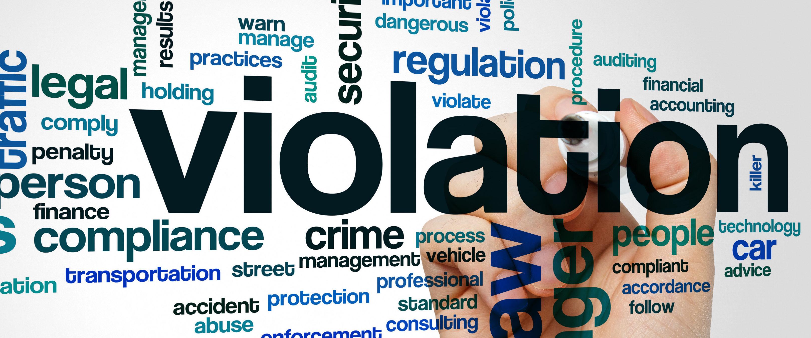 Picture of violation (Shutterstock/ibreakstock)