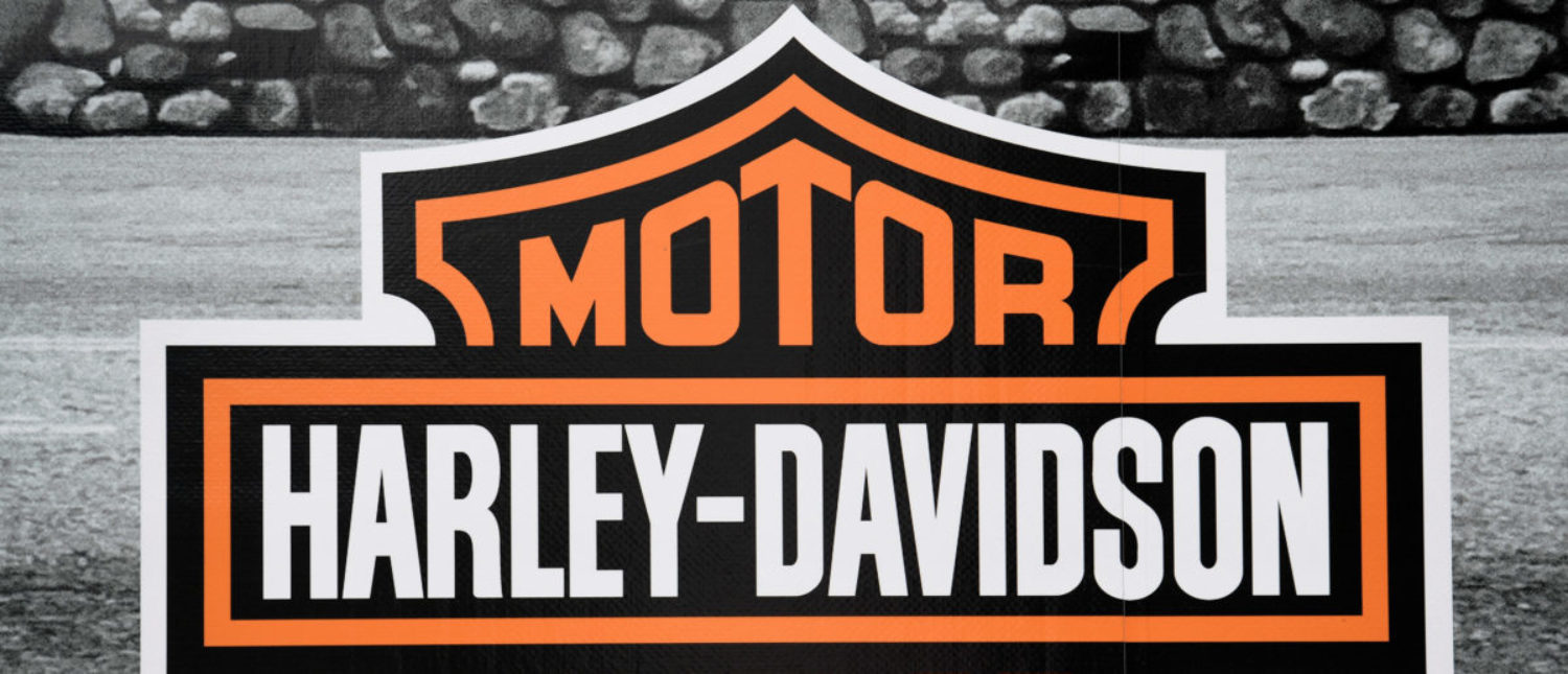 "The logo of U.S. motorcycle company Harley-Davidson is pictured at the ""Hamburg Harley Days"" in Hamburg, Germany, June 24, 2018. (REUTERS/Fabian Bimmer)"