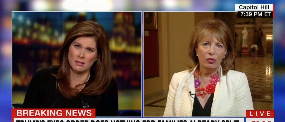 Rep. Jackie Speier defends protesters June 21, 2018, on CNN. (Photo: Screenshot/CNN)
