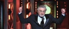 Man Trolls De Niro With 'Keep America Great' Flag At His Broadway Play