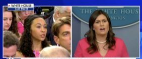 Reporter Asks Sarah Sanders If Trump Is Using Children As Pawns — She Drops A Wall