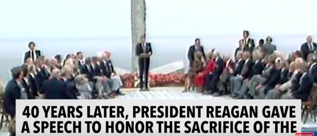 Ronald Reagan D-Day Speech (YouTube: Daily Caller)