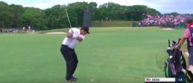 US Open golf 2018 Hot mic two spectators in gallery talking (YouTube: Jamey Fenton)