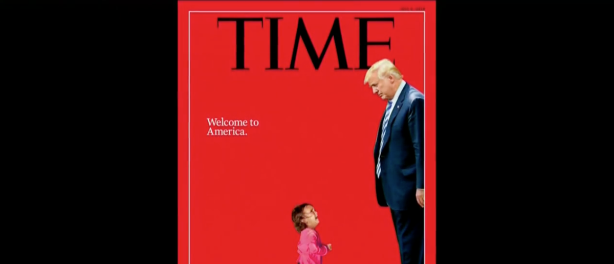 TIME Cover Of Crying Child (CBS Screenshot: June 22, 2018)