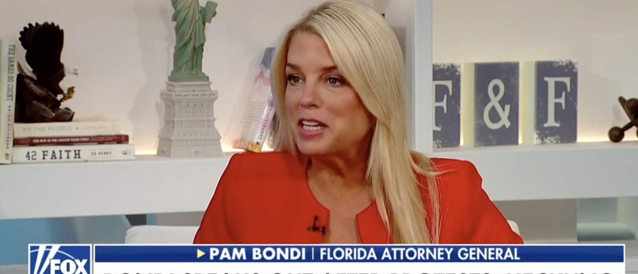 Florida AG Pam Bondi was on Fox and Friends to discuss getting harassed (Fox News 6/25/2018)