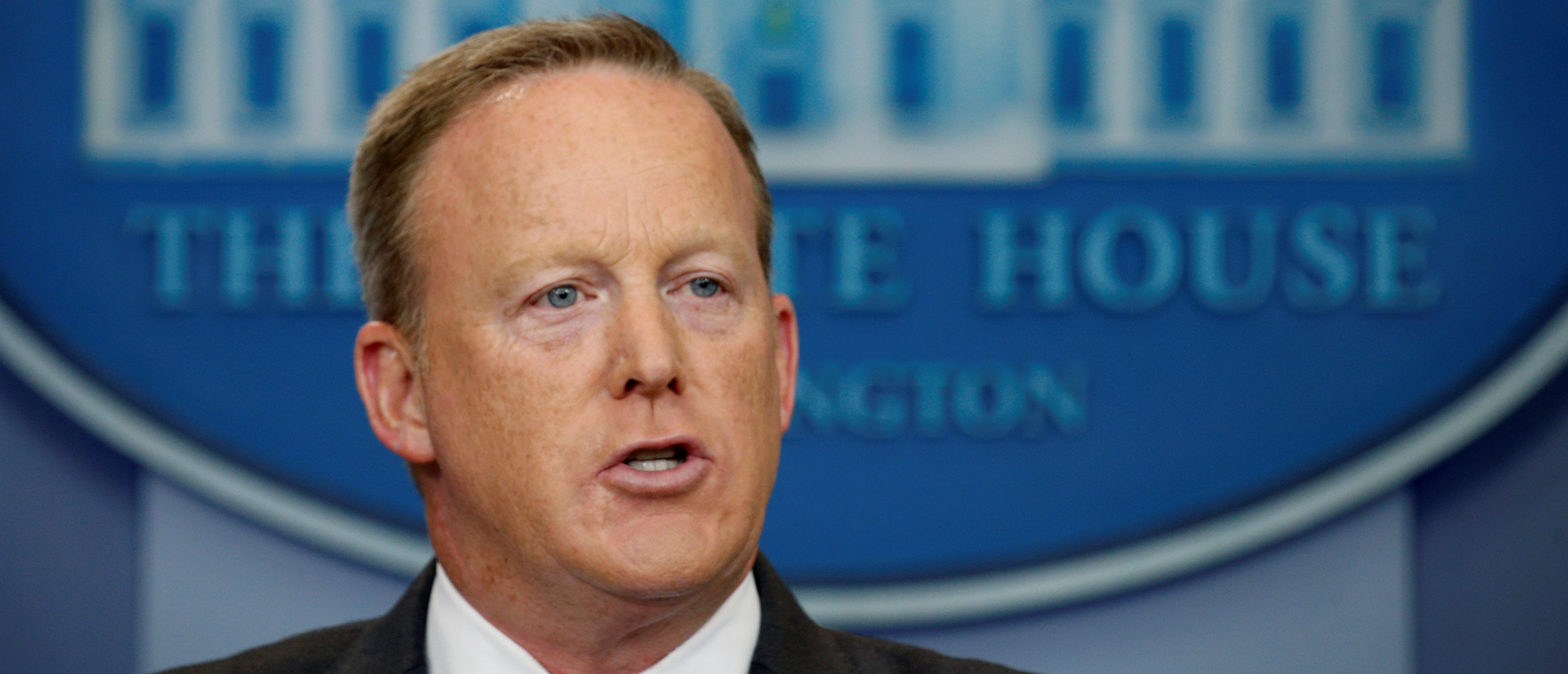 Sean Spicer during a White House press briefing in July 2017 (Reuters, 06/26/18)