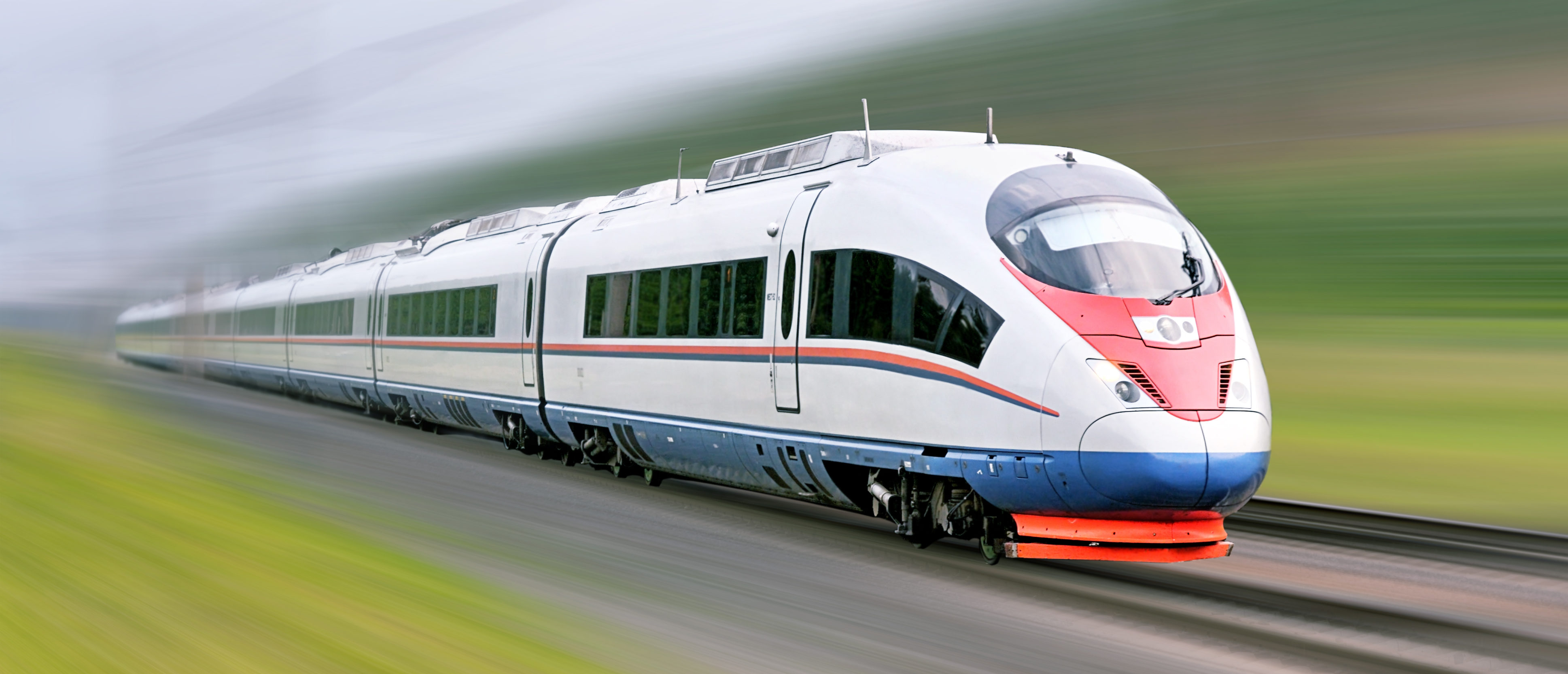 "High-speed commuter train. Modern business train. High-speed rail. Express ""Peregrine"" Russia. Train ""Sapsan."" Ortodox Royalty-free stock photo ID: 80741653"
