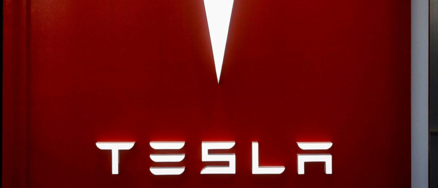 The Tesla logo is seen at the entrance to Tesla Motors' new showroom in Manhattan's Meatpacking District in New York City, U.S., Dec. 14, 2017. (REUTERS/Brendan McDermid/File Photo)
