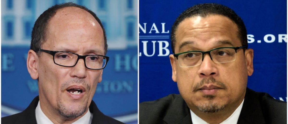 Tom Perez and Keith Ellison (Photo: MANDEL NGAN,BRENDAN SMIALOWSKI/AFP/Getty Images)
