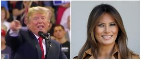 Trump Melania Left: Fox News screenshot Right: Photo by Win McNamee/Getty Images
