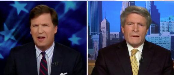 Tucker Carlson debates Richard Painter on spy issues. Fox News screenshot