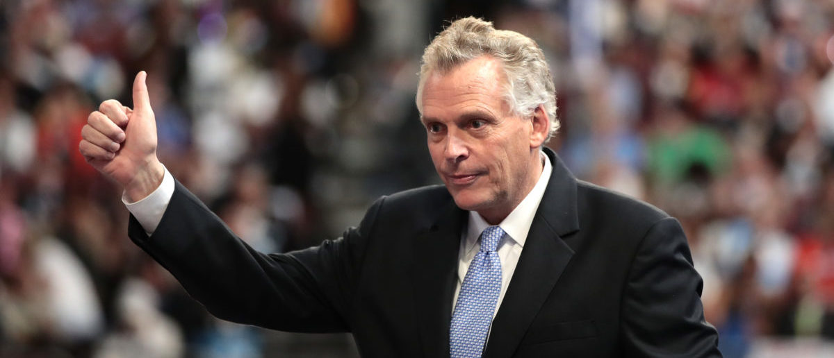 Gov. Terry McAuliffe (D-VA) delivers remarks on the second day of the 2016 Democratic National Convention. (Photo by Drew Angerer/Getty Images)