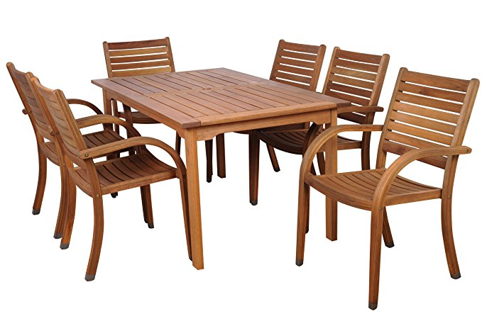 Normally $1125, this 7-piece dining set is 25 percent off today (Photo via Amazon)