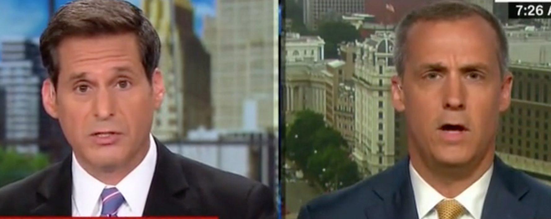 CNN's John Berman debates Corey Lewandowski on civility in politics./Screenshot