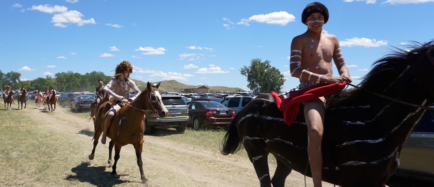 Battle of Little Big Horn re-enactment participants are seen on the Crow reservation, Montana, U.S. June 23, 2017. (Photo: REUTERS/Valerie Volcovici)