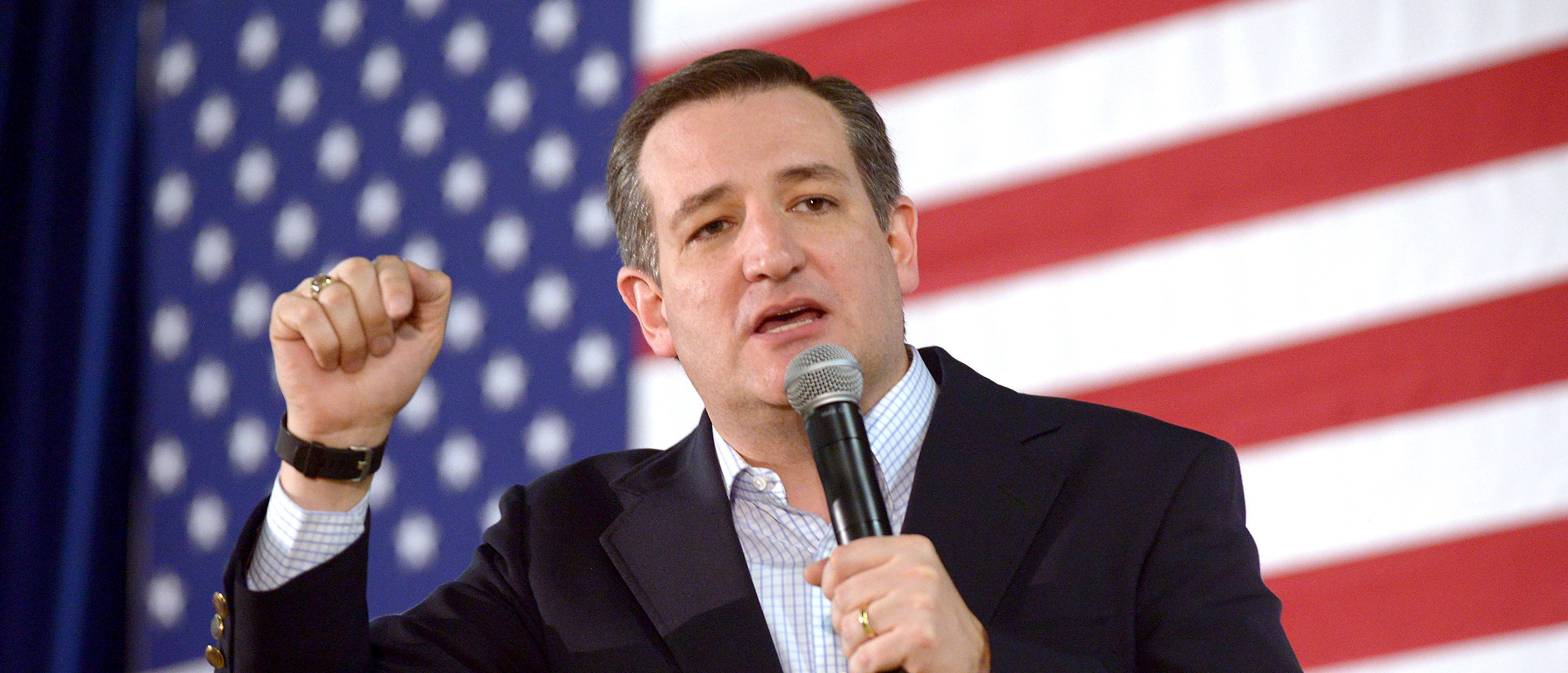 Republican Presidential candidate Ted Cruz speaks at a rally at the Boys and Girls Club of Truckee Meadows in Reno, Nevada February 22, 2016. REUTERS/James Glover II