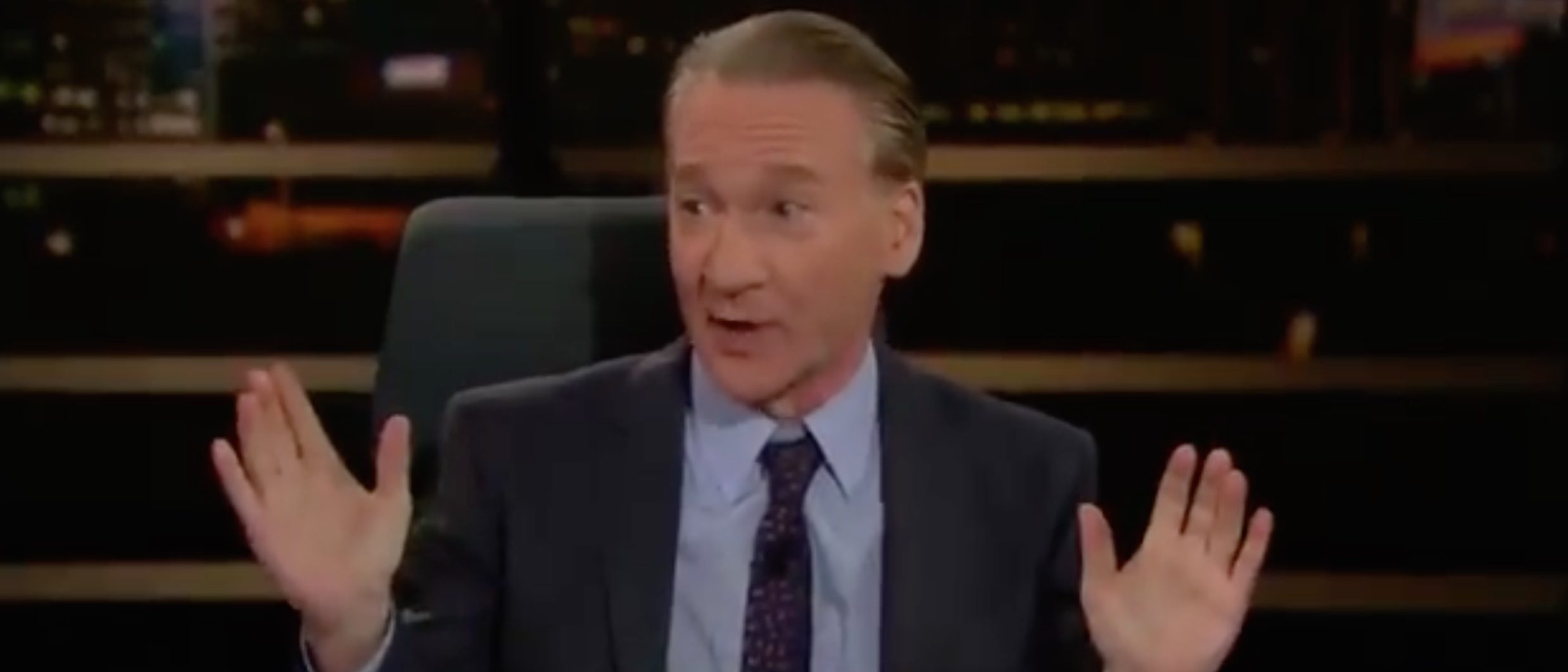 Bill Maher calls for a recession because it will get rid of President Trump./Screenshot