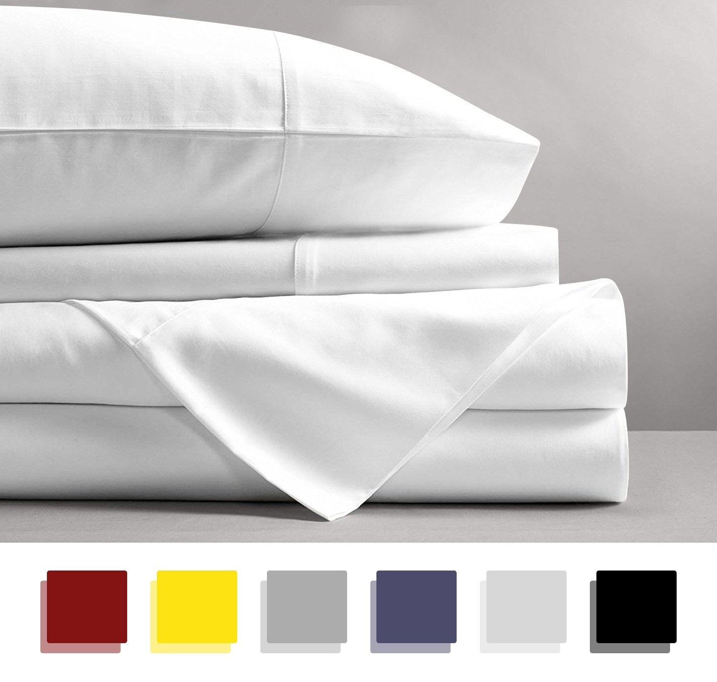 Normally $100, the queen-size version of the white sheets are 55 percent off today (Photo via Amazon)