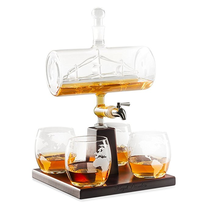 Normally $120, this decanter set is 30 percent off today (Photo via Amazon)